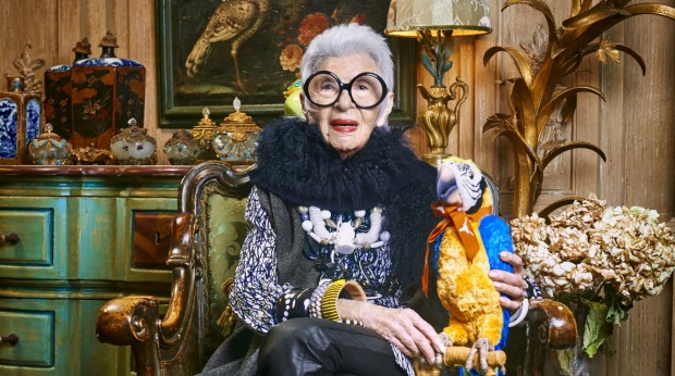 Iris Apfel fronts Blue Illusion campaign