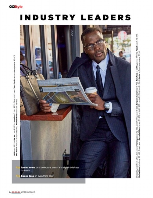 GQ South Africa Sept 2017 | PH: Higor Bastos | Styling: Jason Basson | Groomer: Sian Moss