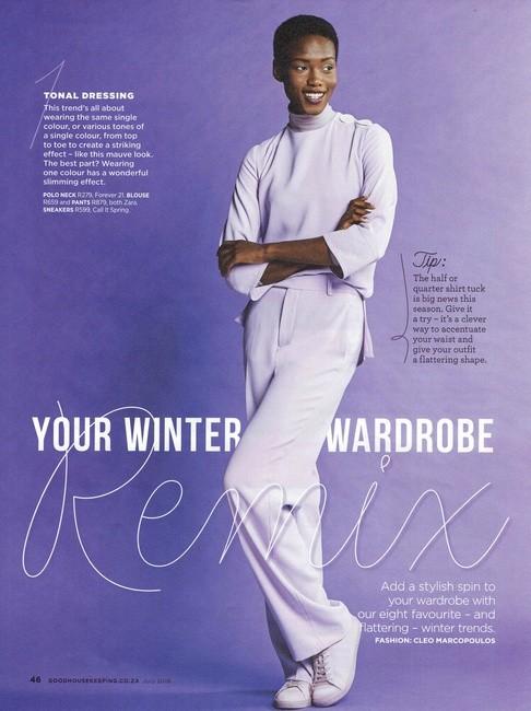 Good Housekeeping   PH: Katinka Bester   H: Kelly Paitaki   MU: Algria Ferreira   Styling: Cleo Marc