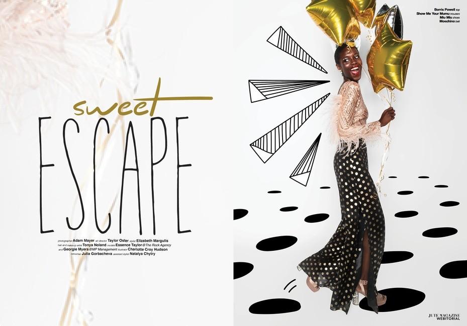 Jute Magazine   PH: Adam Mayer   HMU: Tonya Noland   Stylist: Elizabeth Margulis