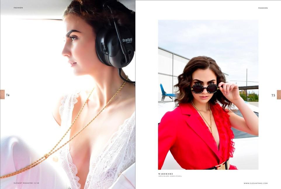 Elegant Magazine | PH: Lori Sapio | MU: Prem Deia | H: Hannah Colby | Styling: Marlene Anzaldua
