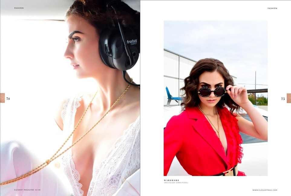 Elegant Magazine   PH: Lori Sapio   MU: Prem Deia   H: Hannah Colby   Styling: Marlene Anzaldua