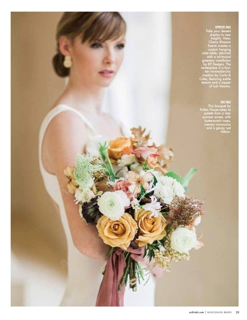 Wisconsin Bride   PH: Booth Photographics   Styling: Cherry Blossom Events   HMU: Kendra Gassner