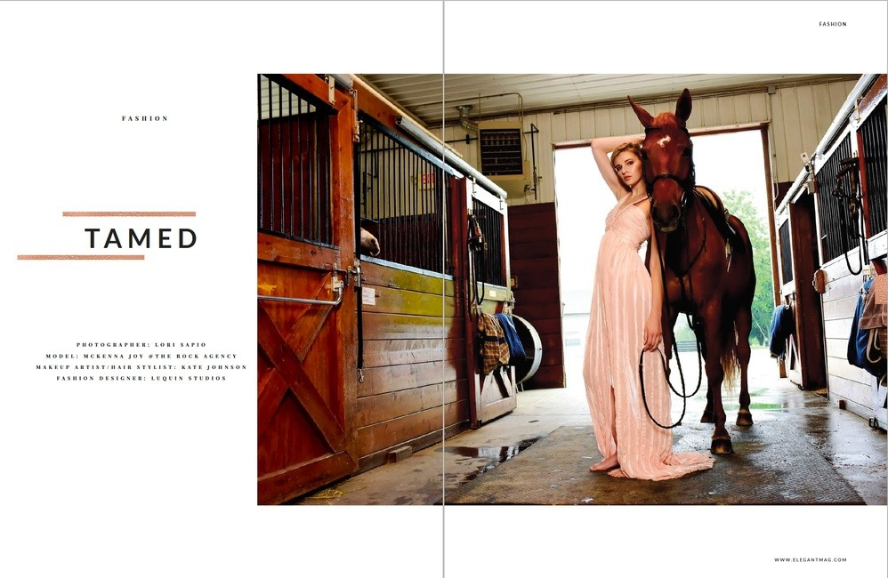 Elegant Magazine | PH: Lori Sapio | HMU: Kate Johnson | Styling: Luquin Studios