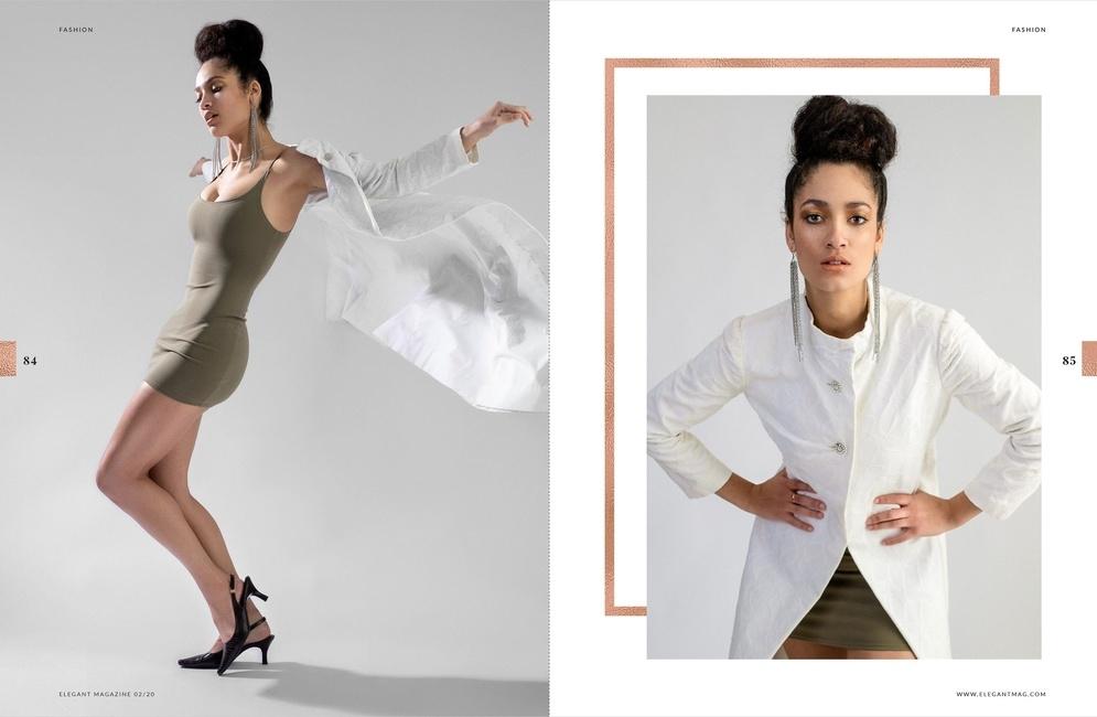 Elegant Magazine   PH: Roland Lim   HMU:  Kimberly Black Crawford   Stylist: Char Westport