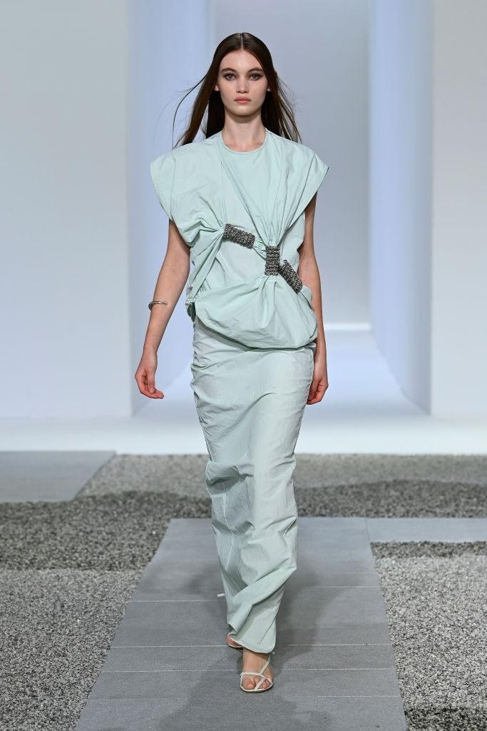 Grace Monfries walks for Christopher Esber at Australian Fashion Week   Pride Models news