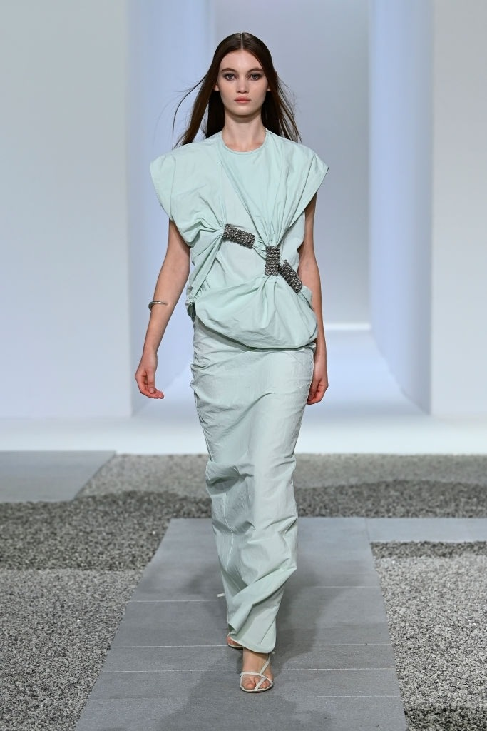 Grace Monfries walks for Christopher Esber at Australian Fashion Week | Pride Models news