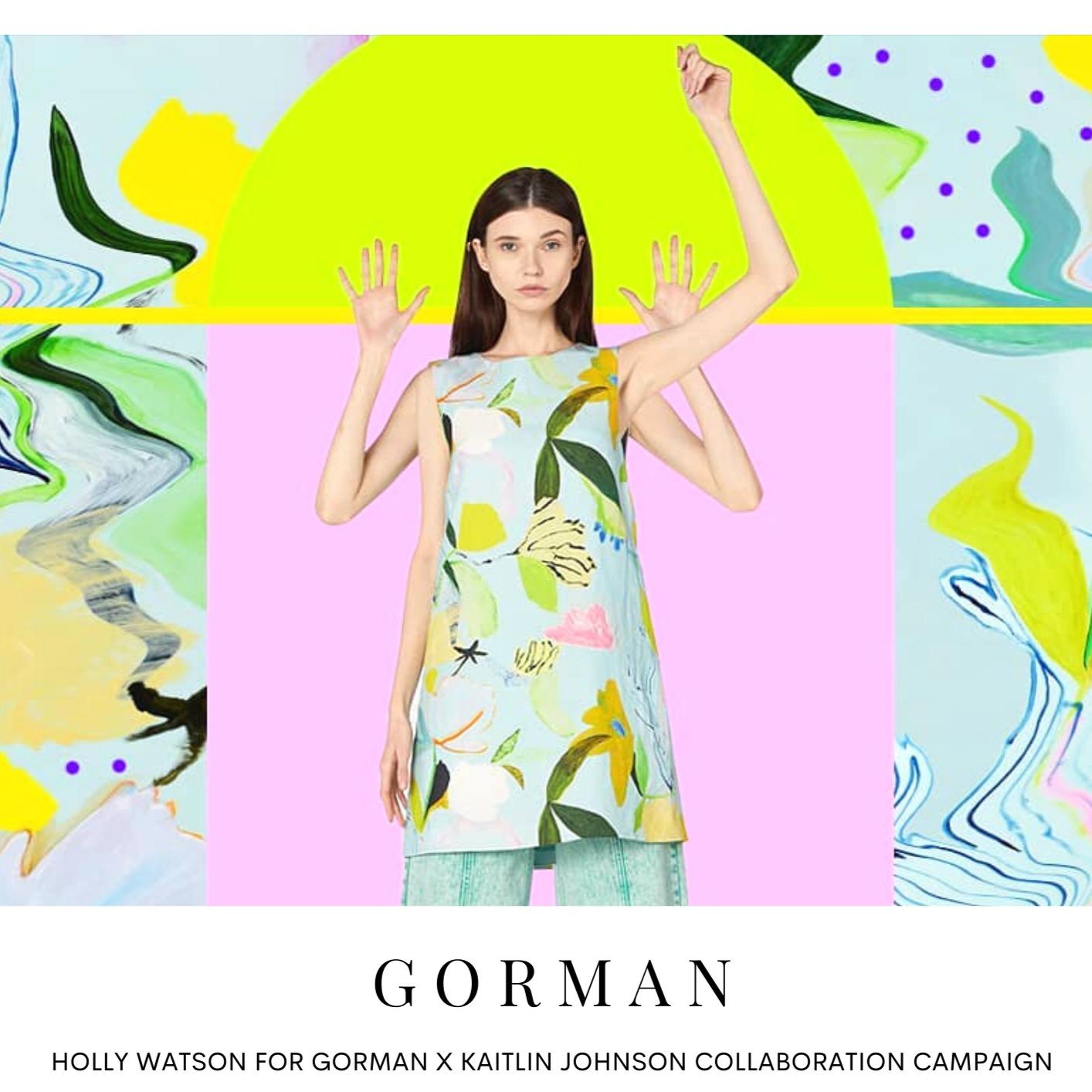 HOLLY WATSON: GORMAN X KAITLIN JOHNSON COLLABORATION CAMPAIGN | The Models blog