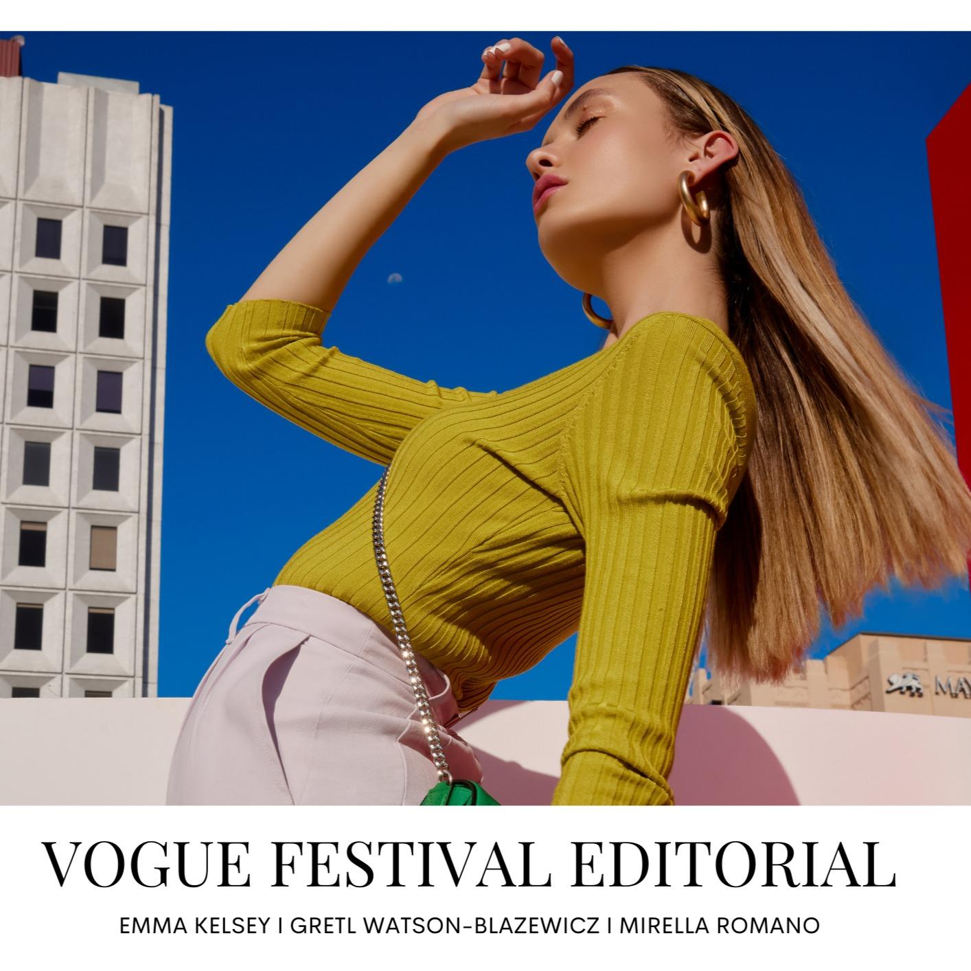 EMMA KELSEY X VOGUE FESTIVAL for the SUNDAY MAIL | The Models blog