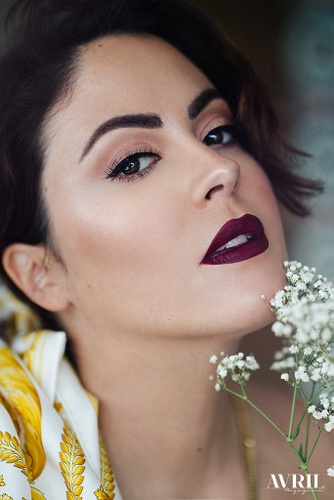 Isabella Forget female curve model photoshoot for Avril Magazine Bridge Models London