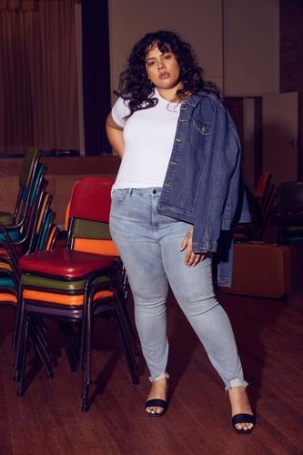 Mahalia Handley female curve model photoshoot for The Iconic walk on by Bridge Models London