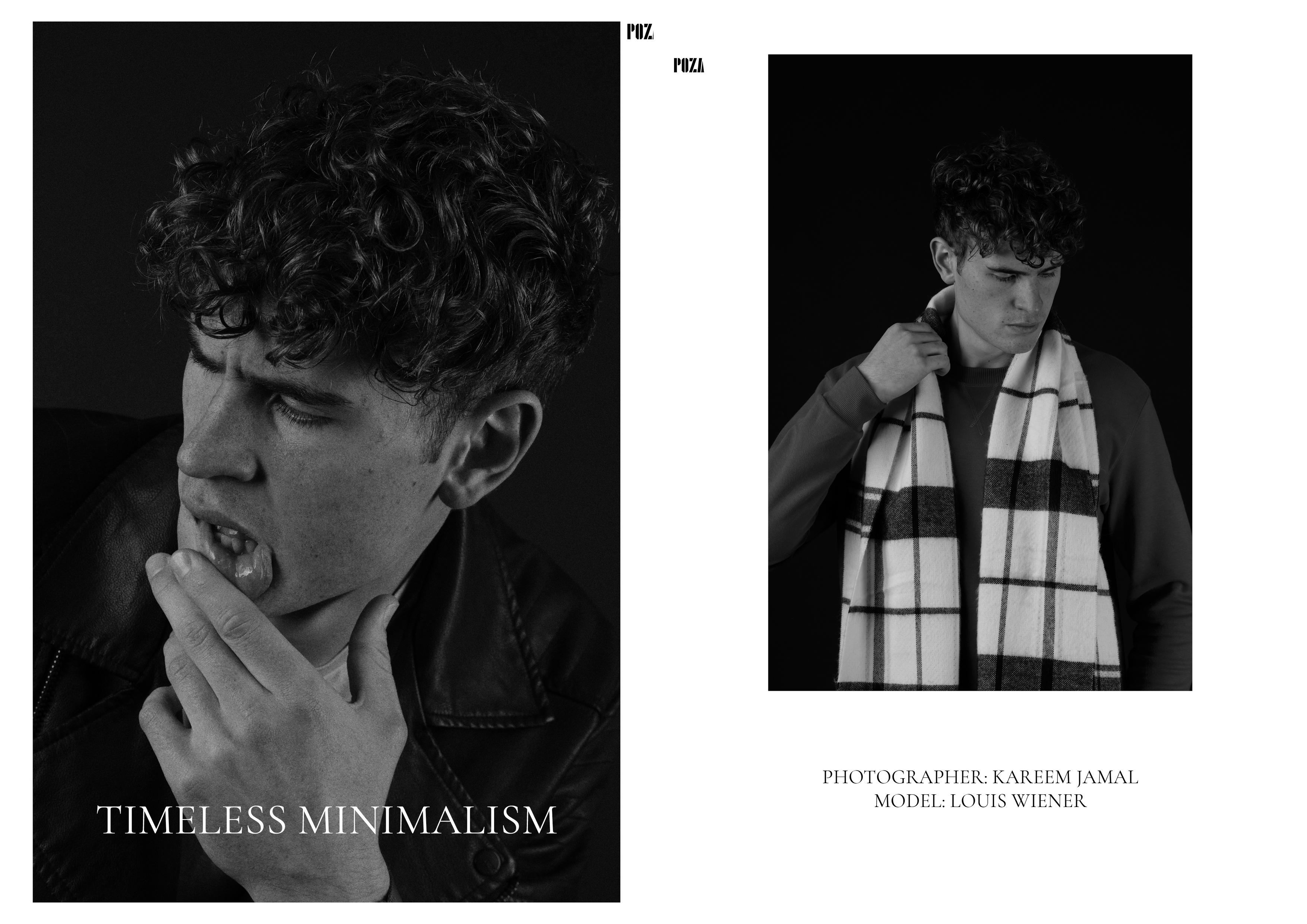 Louis Werner male curve model photoshoot for Poza Magazine Bridge Models London