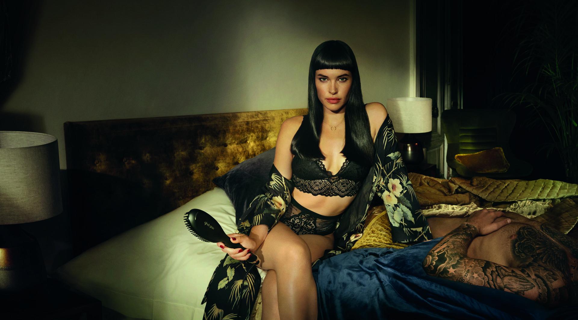 Thea Carly female model photoshoot for GHD Bridge Models London