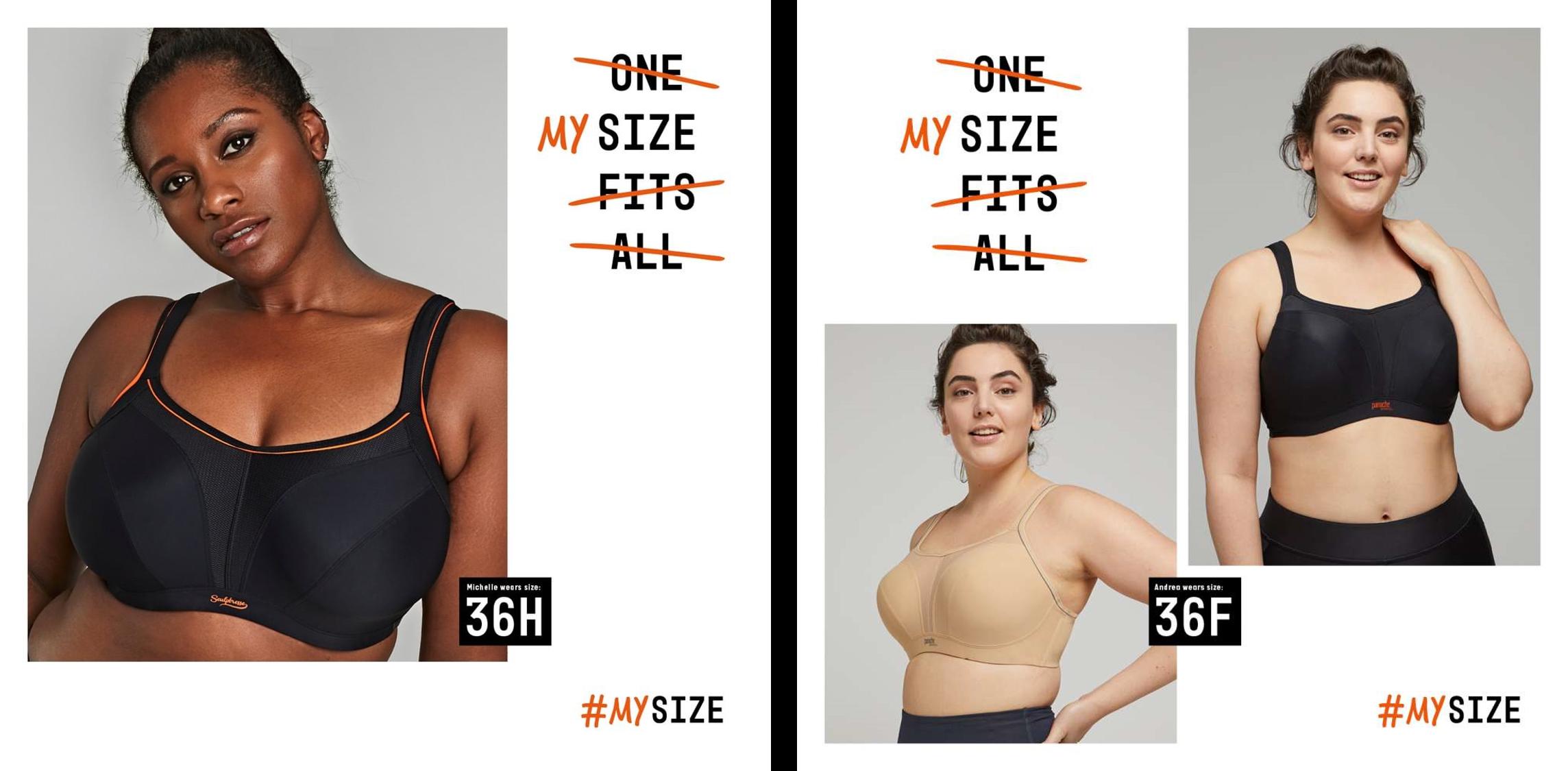Michelle Vernege female curve model and Andrea Boutine female curve model photoshoot for Panache #mysize campaign Bridge Models London