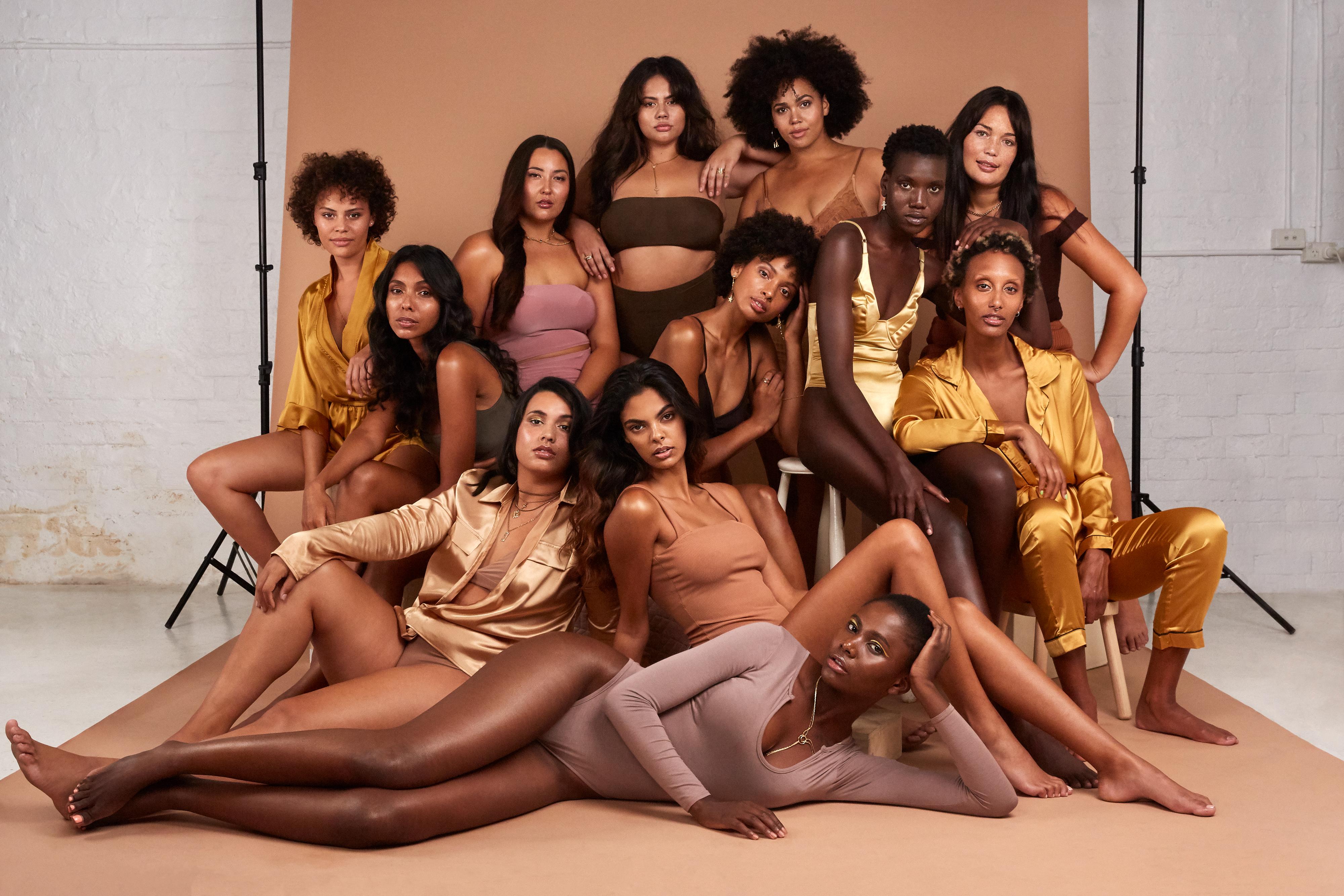 Mahalia Handley female curve model photoshoot for #shine4diversity Bridge Models London