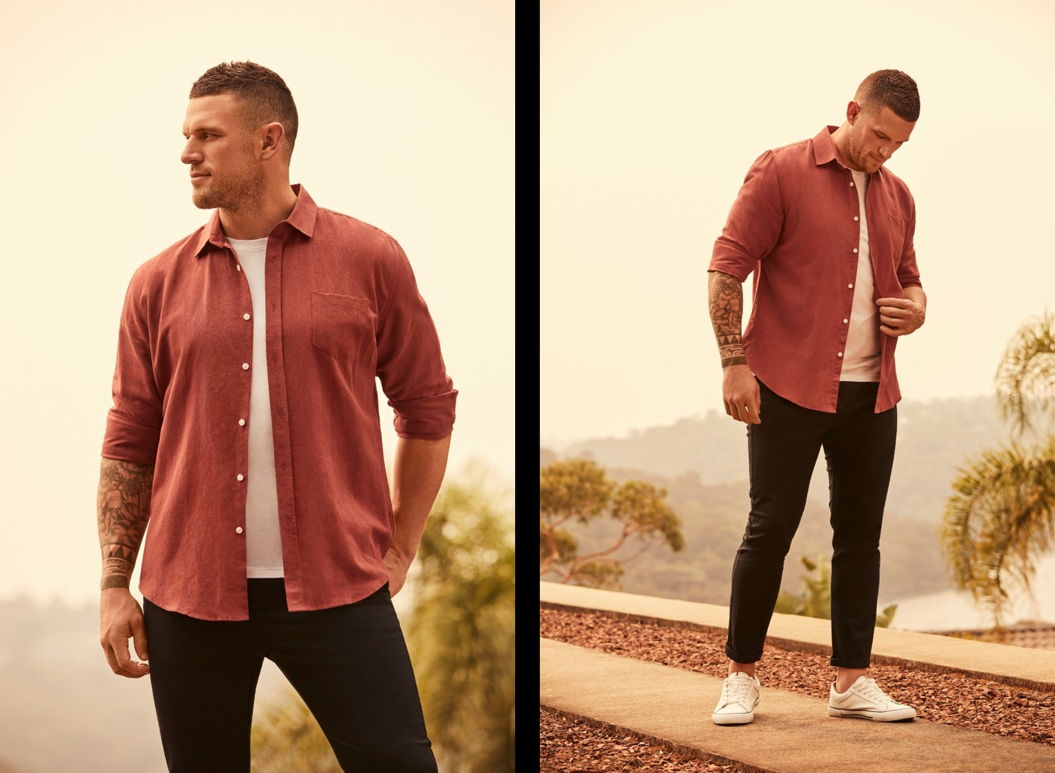 Bridge Models' Luke Burges in the Johnny Bigg Autumn Campaign 2020