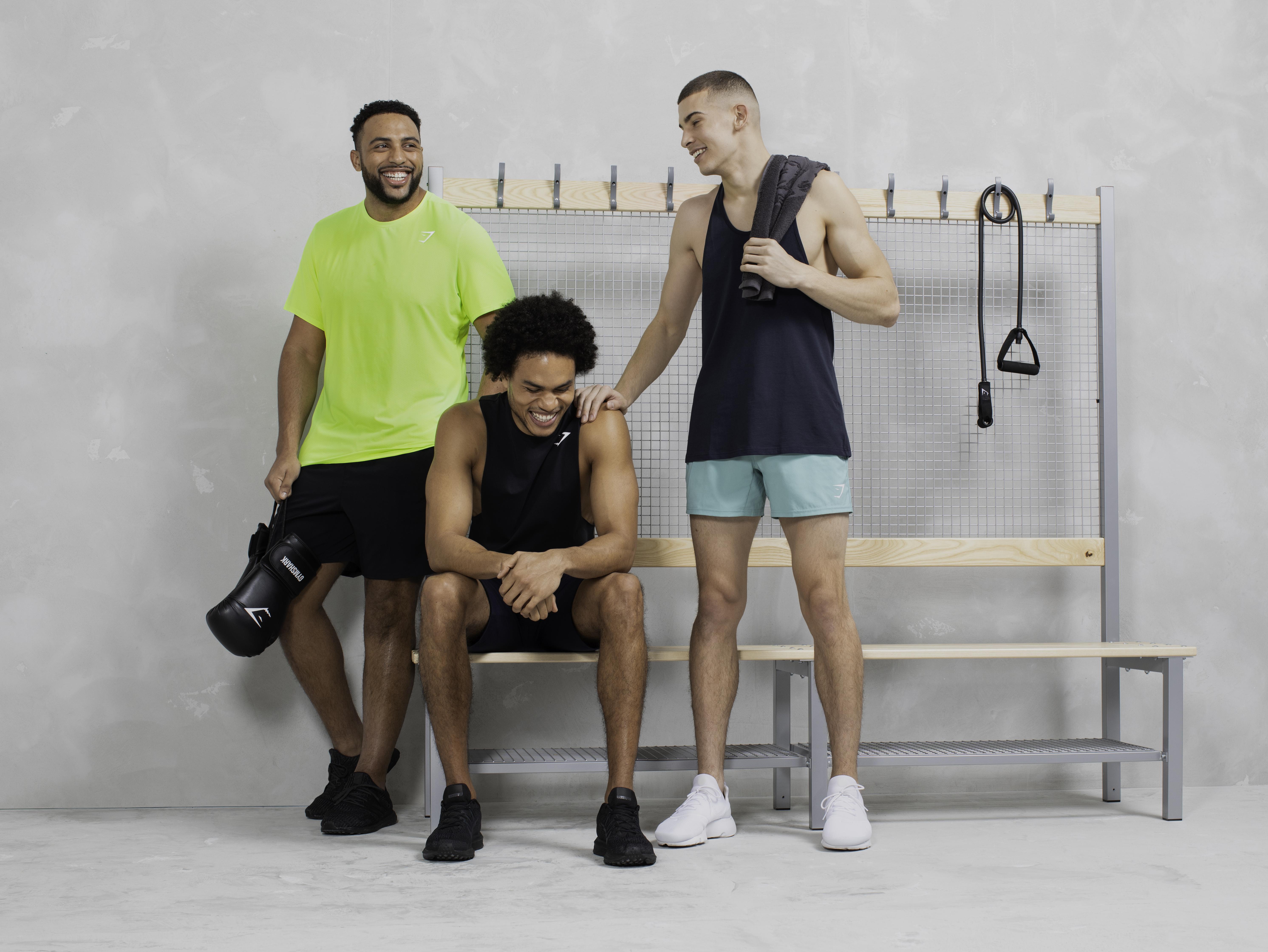 Najee Fox male model for Gym Shark February 2020 campaign Bridge Models London