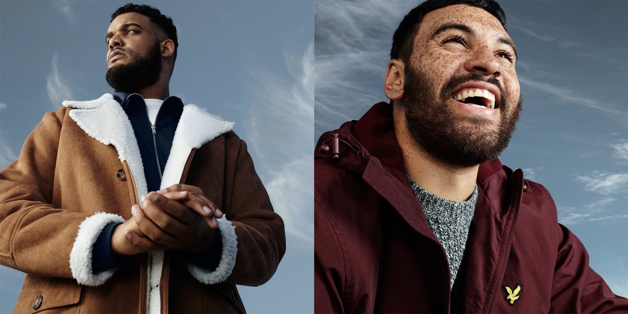 Bridge Models' Will Reid and Karl McGovern shoot for the Jacamo Winter Collection