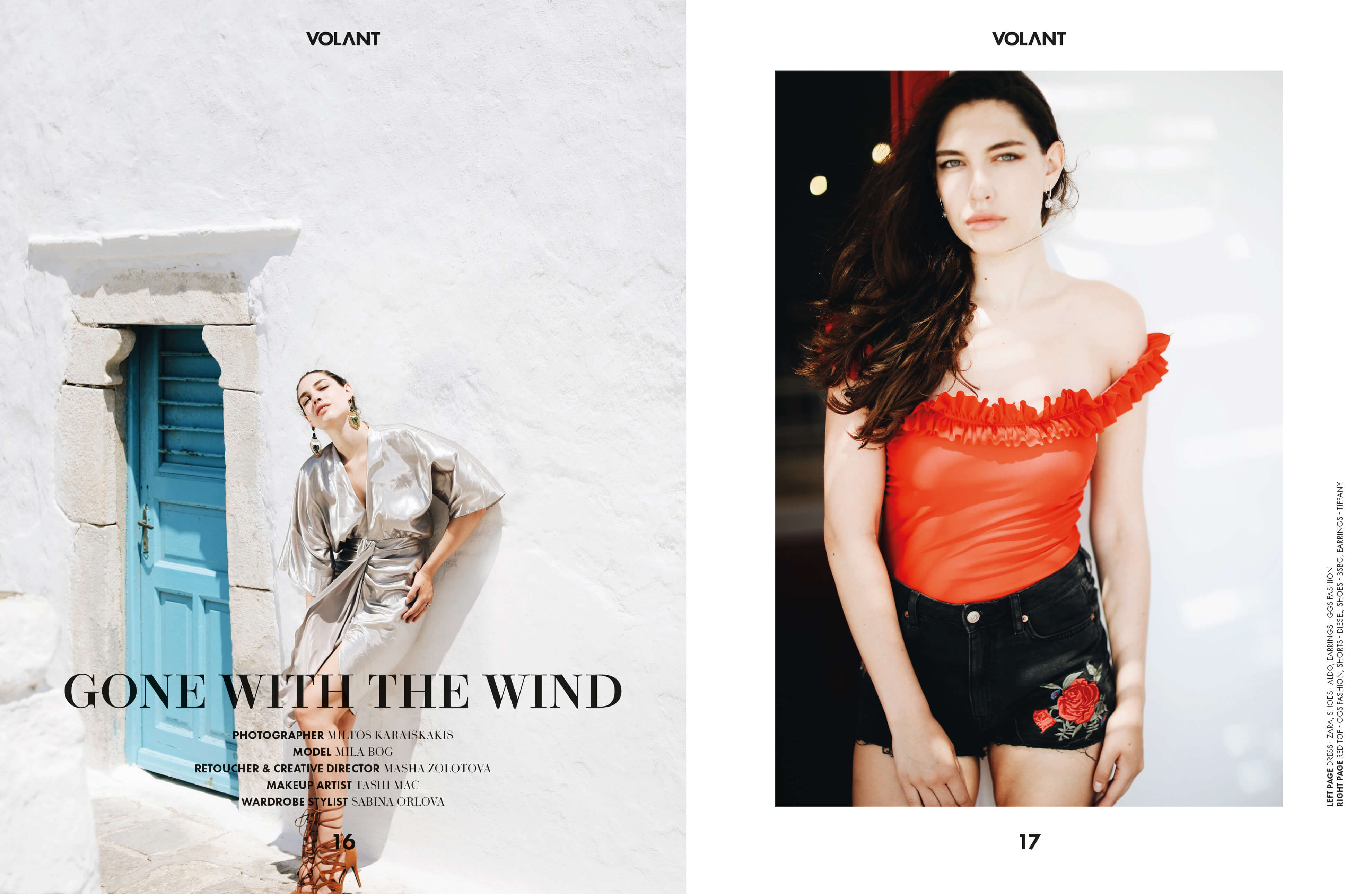 BRIDGE Model's Mila Bog shoots for Volant Magazine