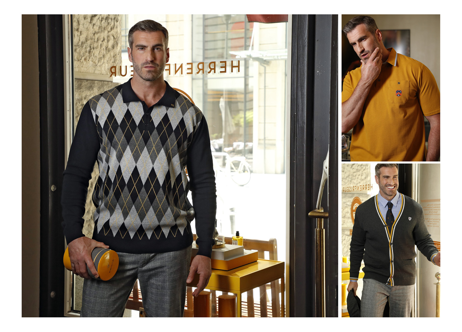 BRIDGE Models's Kyle Andrew shoots for the Charles Colby's AW21 collection