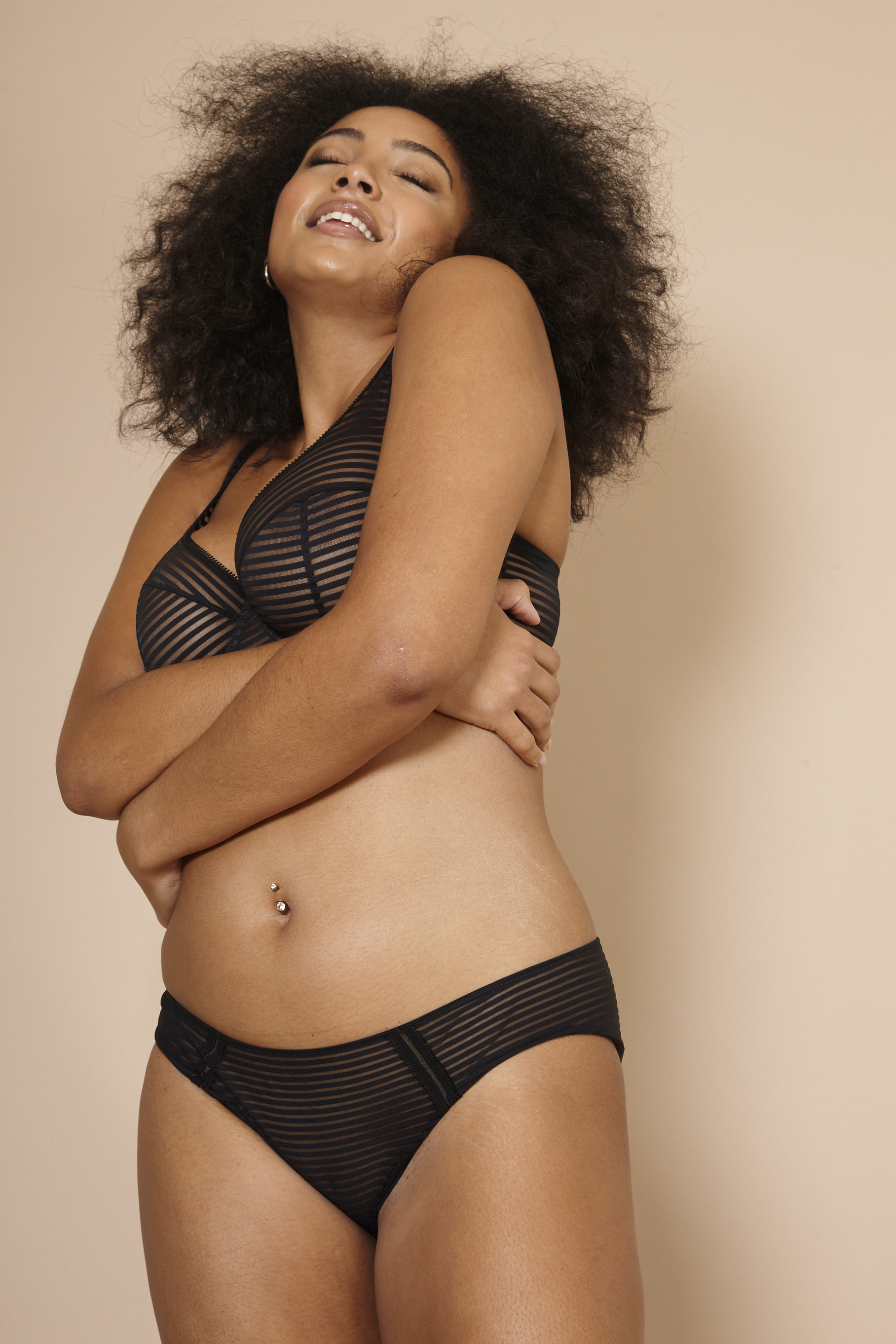 Abigail Edwards female curve models shoots with Beija London for their latest Look Book Bridge Models London