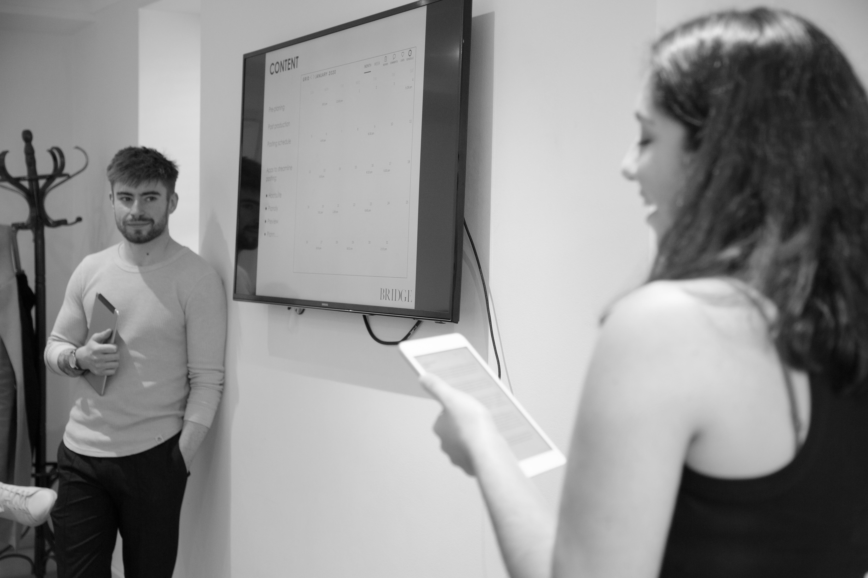 Bridge Model's London's Adam Ward and Mariam Gomez lead an Influencer Day
