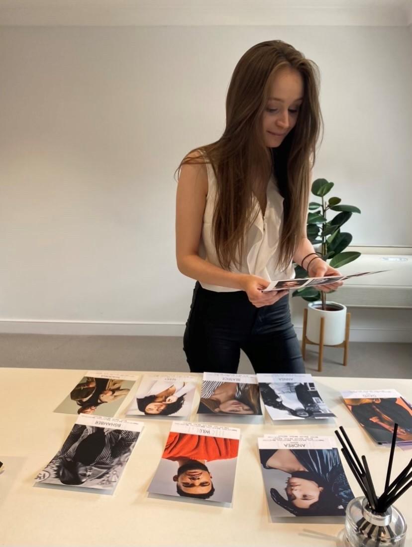 Amber-Lea Sutherland female model 5 year anniversary photoshoot with Bridge Models London