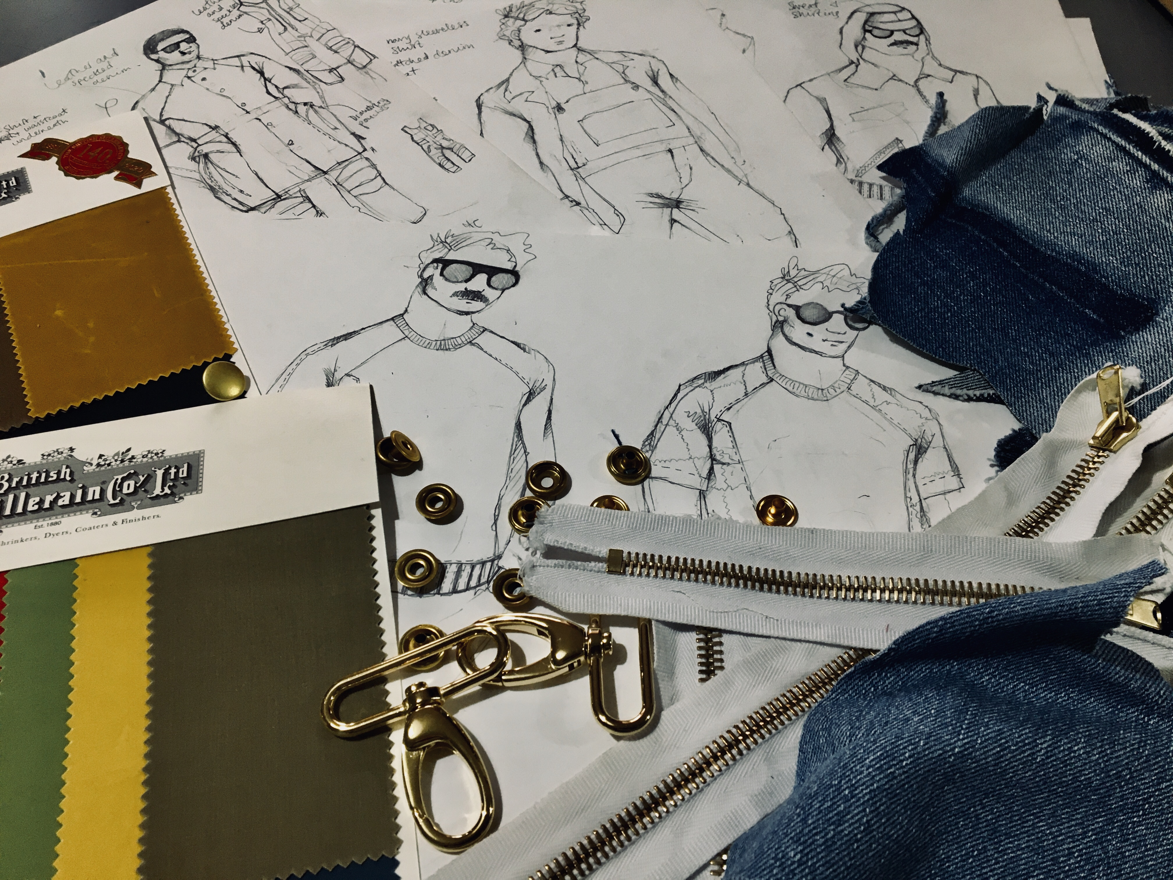 Bennet Loveday sketches and drawings for interview with Bridge Models New York