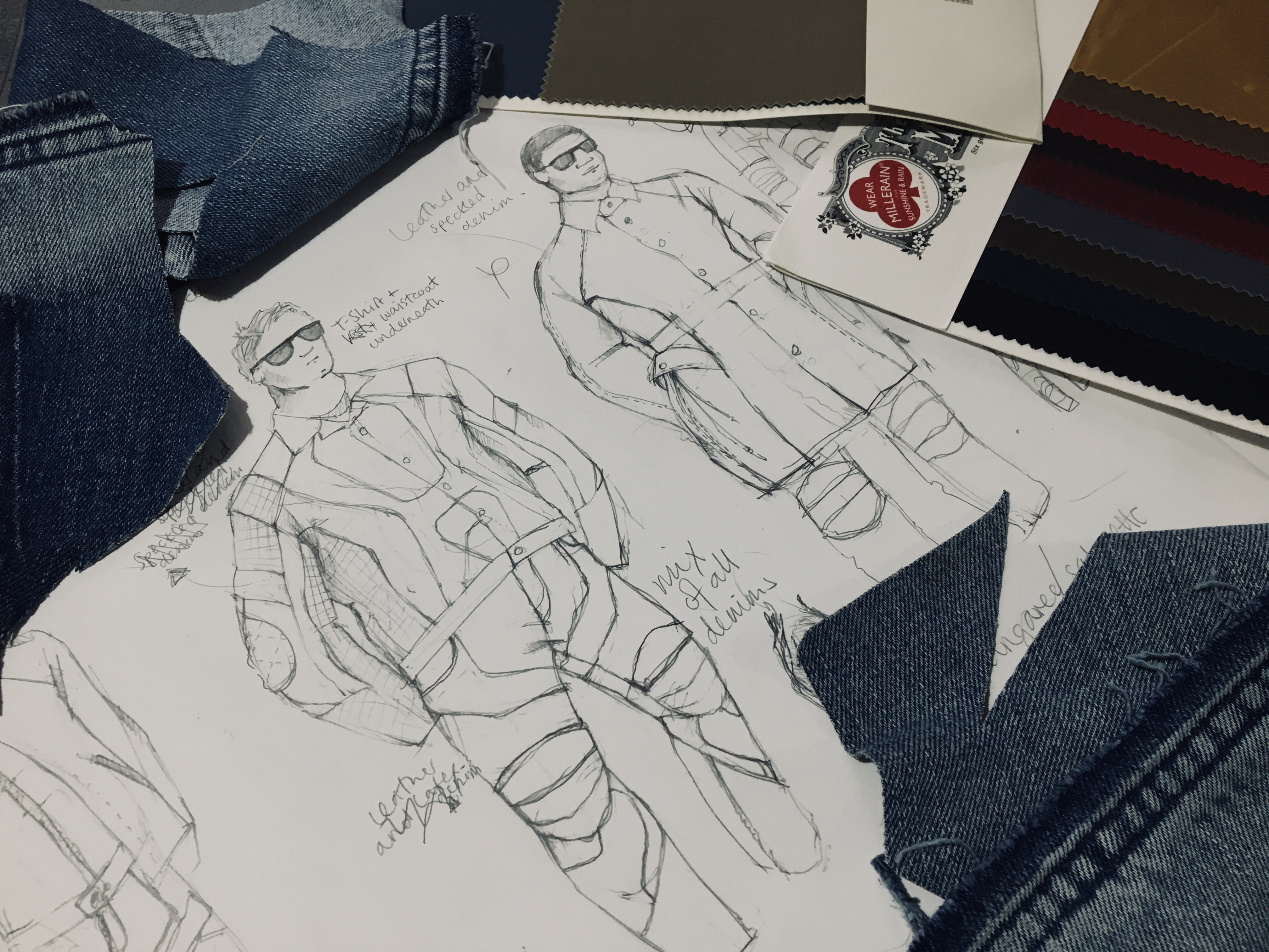 Bennet Loveday sketches for 5 year anniversary with Bridge Models London