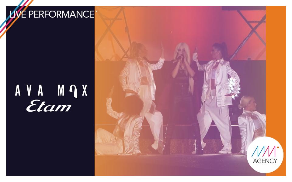 #liveperformance   Ava Max - Etam Event X Mass Movement Management