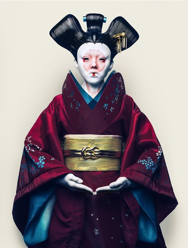 Geisha from Ghost in the Shell