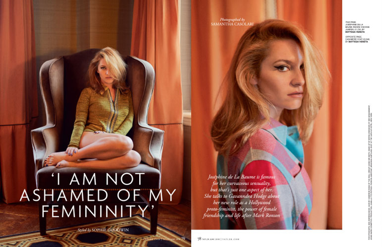 JOSEPHINE DE LA BAUME for TATLER UK