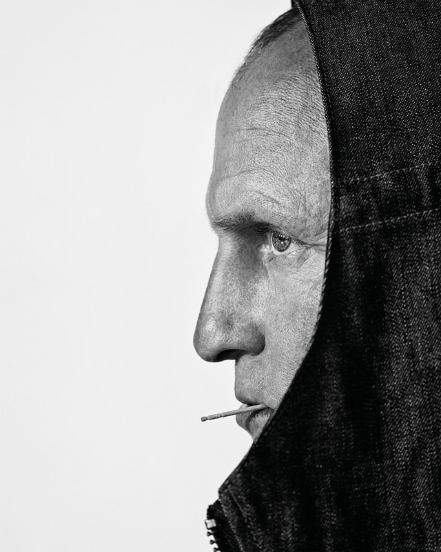 Marc Hom Shoots Woody Harrelson for Esquire Cover
