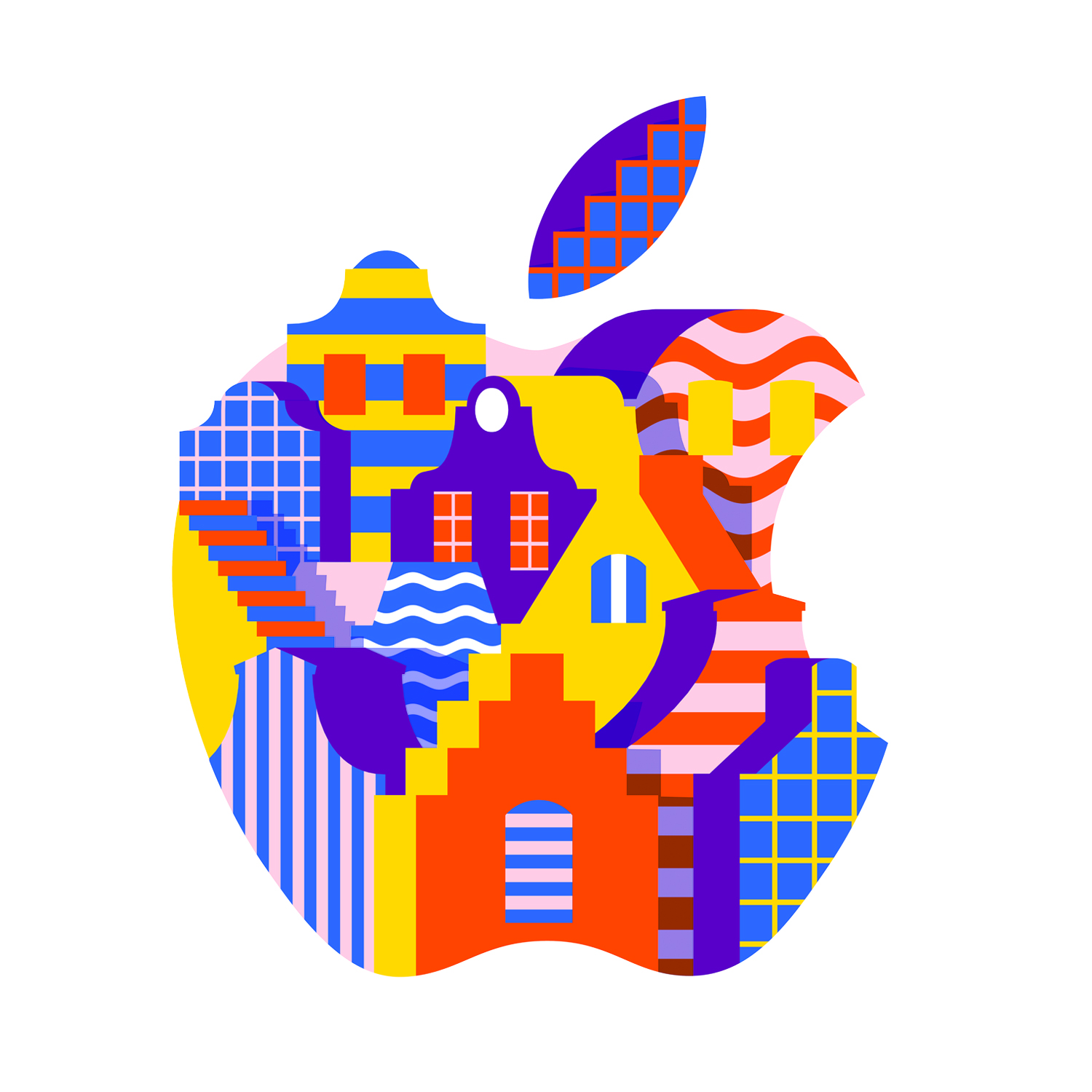 Karan Singh Designs Logo for Newly Reopened Apple Store in Amsterdam