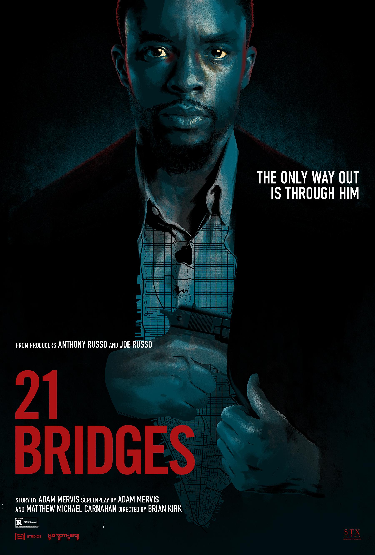 21 Bridges Poster Art by Matt Taylor