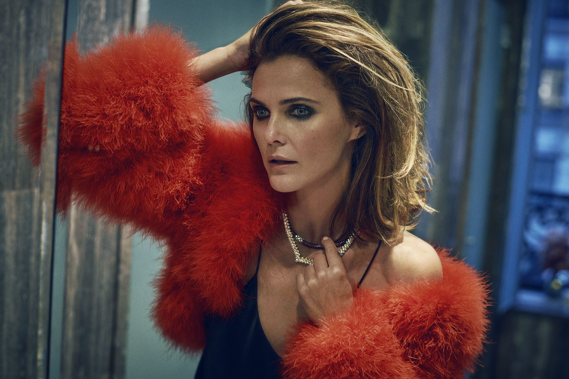 Marc Hom Photographs Keri Russell for Cover of Town & Country Magazine