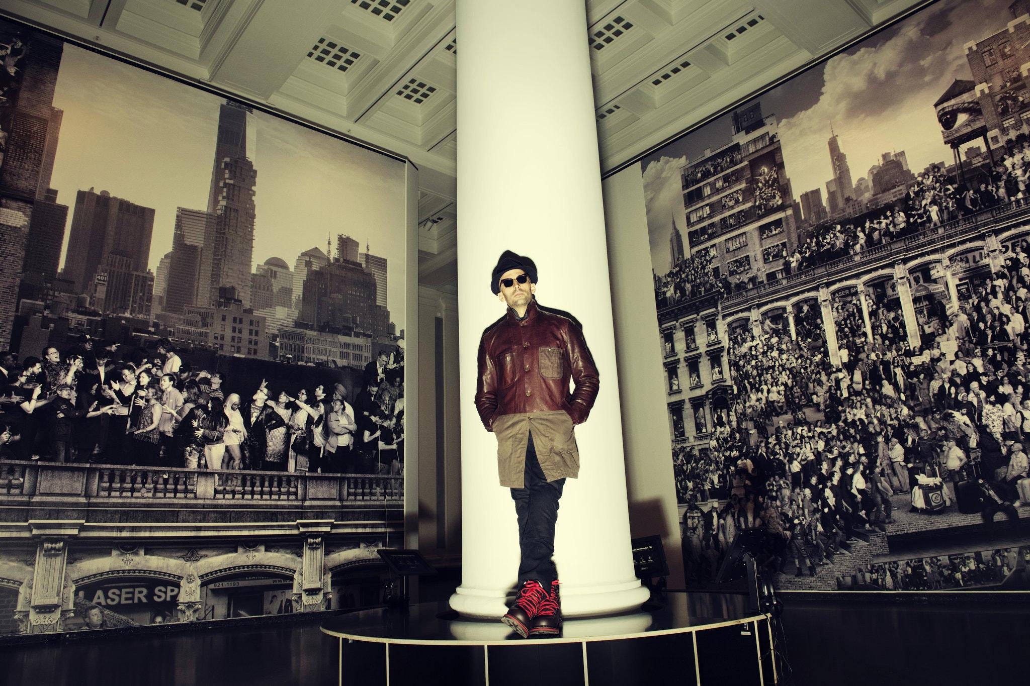 Pari Dukovic Photographs JR at the Brooklyn Museum