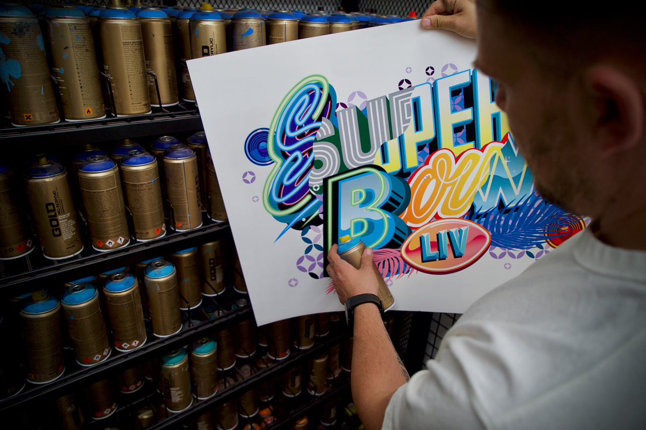 Tristan Eaton Creates Super Bowl LIV Ticket and Commemorative Program