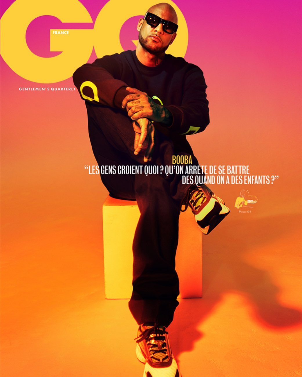 Pari Dukovic Photographs French Rapper Booba for Cover of GQ France