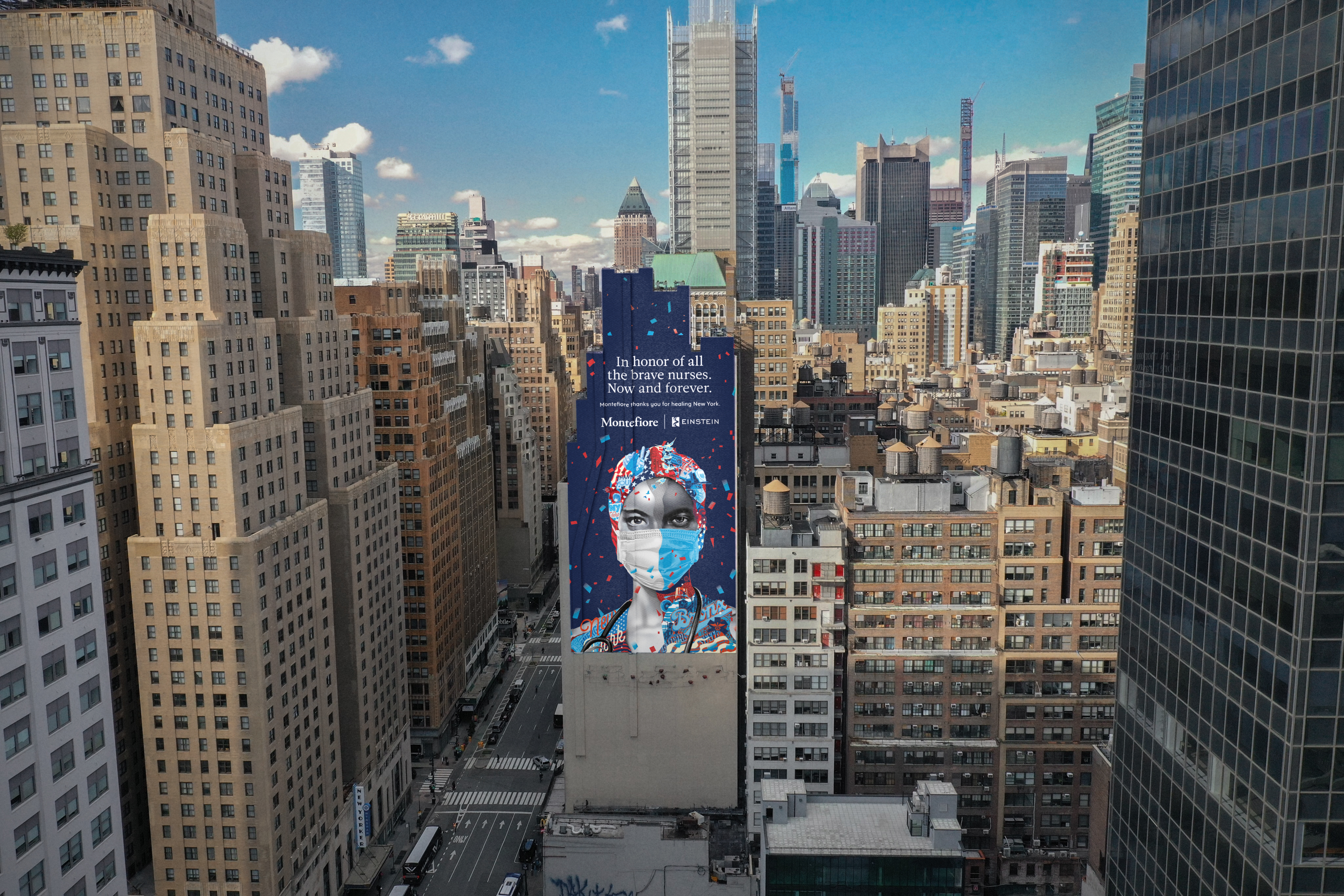 Tristan Eaton Creates Art for Iconic New Mural for Montefiore-Einstein, Honoring Nurses and Medical Staff