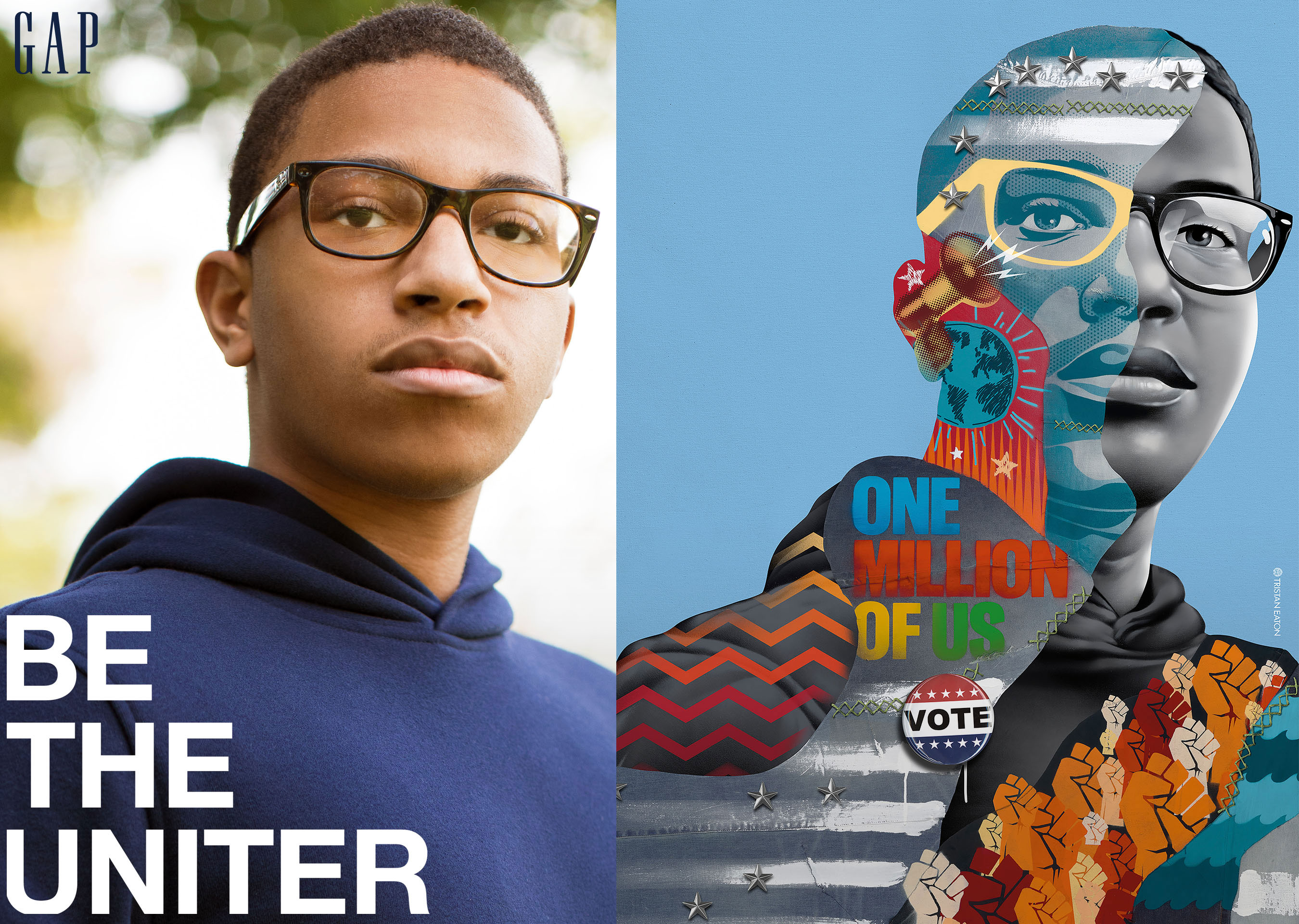 Tristan Eaton Paints Portraits of Young Activists for Gap's 'BE THE FUTURE' Campaign