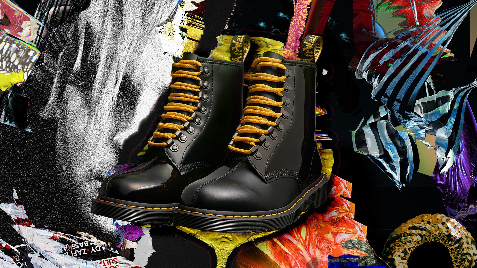 James Dawe Creates Artwork for Dr. Martens' 60th Anniversary Collaboration with Pleasures
