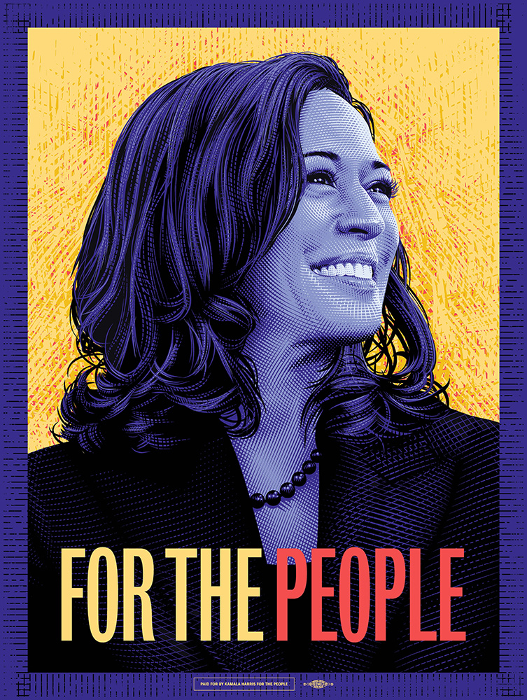 Tracie Ching Illustrates Official Kamala Harris Campaign Poster
