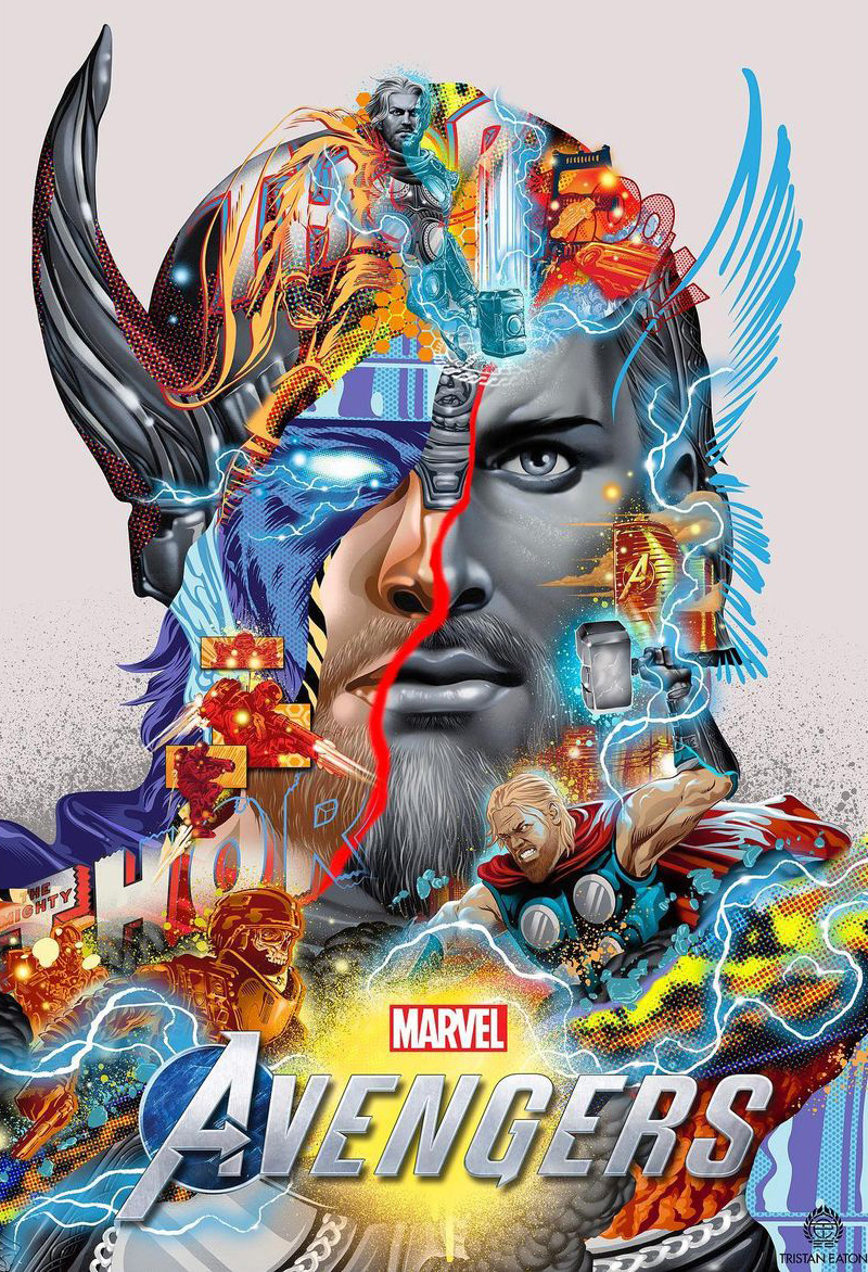 Tristan Eaton Creates Marvel's Avengers Artwork for Ongoing Collaboration